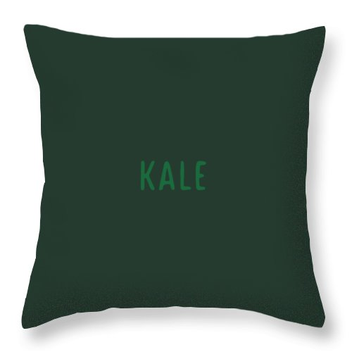 Text Throw Pillow featuring the digital art Kale by Cortney Herron