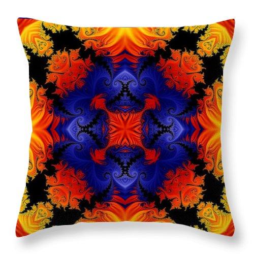 Kaleidoscope Throw Pillow featuring the digital art Kaleidoscope 1 by Charmaine Zoe