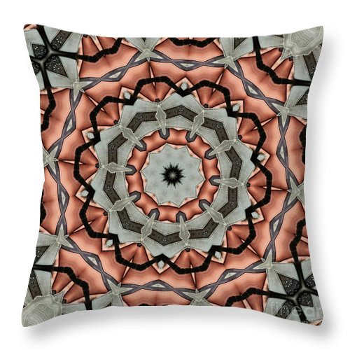 Kaleidoscope Throw Pillow featuring the digital art Kaleidoscope 127 by Ron Bissett