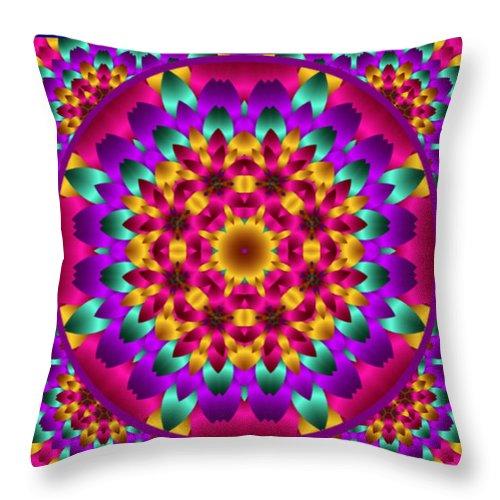 Kaleidoscope Throw Pillow featuring the digital art Kaleidoscope 3 by Charmaine Zoe