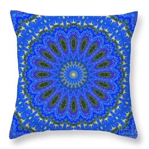 Kaleidoscope Throw Pillow featuring the photograph Kaleidoscope Iris Three by Suzanne Handel