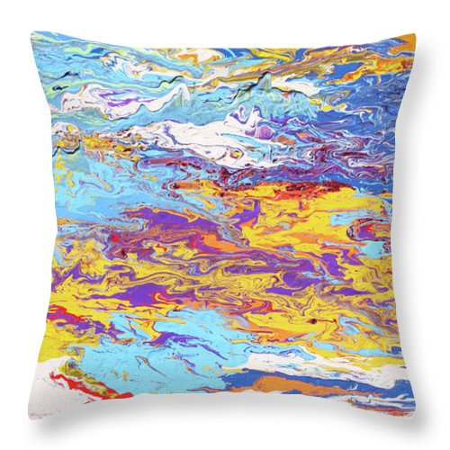 Fusionart Throw Pillow featuring the painting Kaleidoscope by Ralph White