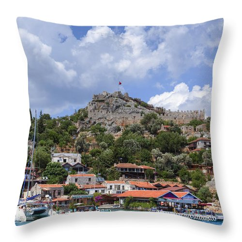 Kekova Archipelago Throw Pillow featuring the photograph Kalekoey - Turkey by Joana Kruse