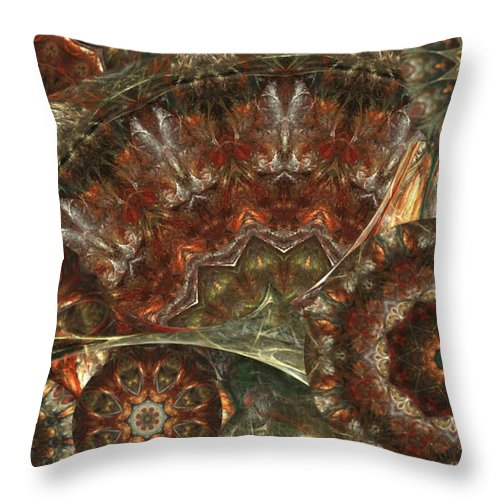 Ftactal Throw Pillow featuring the digital art Kalypso by Charmaine Zoe