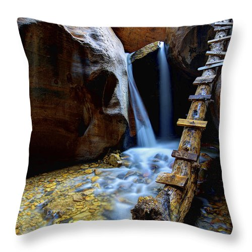 Kanarra Throw Pillow featuring the photograph Kanarra by Chad Dutson
