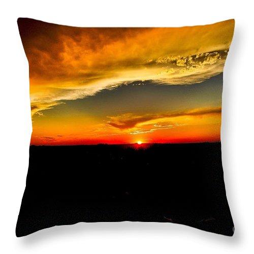 Summer Throw Pillow featuring the photograph Kansas Beauty by Marty Kugler