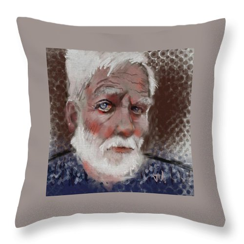 Portrait Throw Pillow featuring the painting Kare by Jim Vance