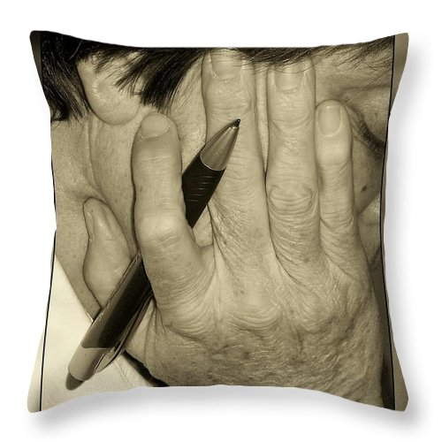 Throw Pillow featuring the photograph Karen For Pause by Joy Underhill