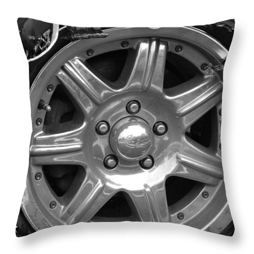 Black And White Throw Pillow featuring the photograph Karma Is A Bitch by Rob Hans