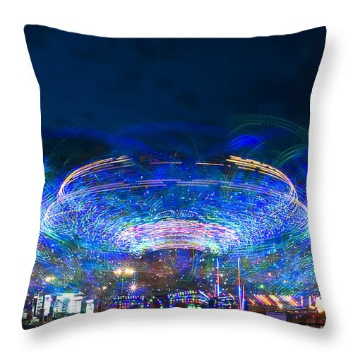 Abstract Throw Pillow featuring the photograph Karusel by Svetlana Sewell