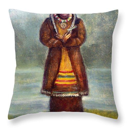 1681 Throw Pillow featuring the photograph Kateri Tekakwitha by Granger