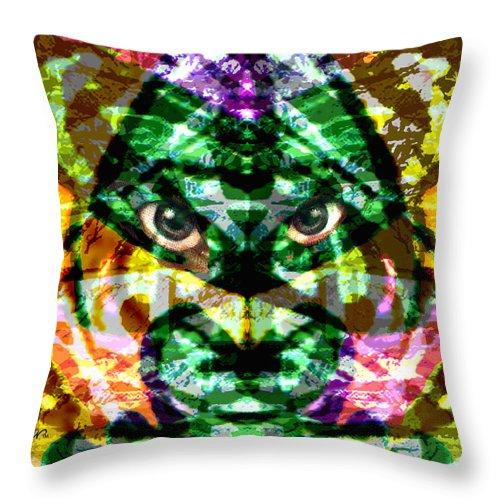 Abstract Throw Pillow featuring the digital art Katmandu by Seth Weaver