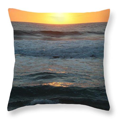 Kauai Throw Pillow featuring the photograph Kauai Sunrise by Nadine Rippelmeyer