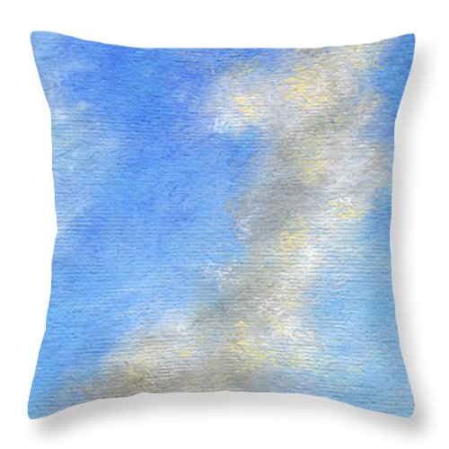 Coastal Decor Throw Pillow featuring the painting Kauapea Evening by Kenneth Grzesik