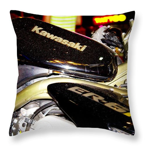 Style Throw Pillow featuring the photograph Kawasaki by Stelios Kleanthous