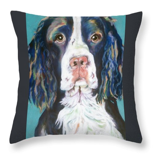 Pat Saunders-white Canvas Prints Throw Pillow featuring the pastel Kayla by Pat Saunders-White