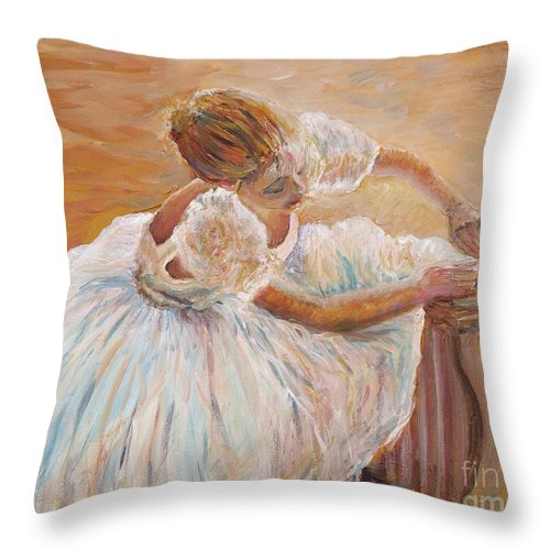 Dancer Throw Pillow featuring the painting Kaylea by Nadine Rippelmeyer