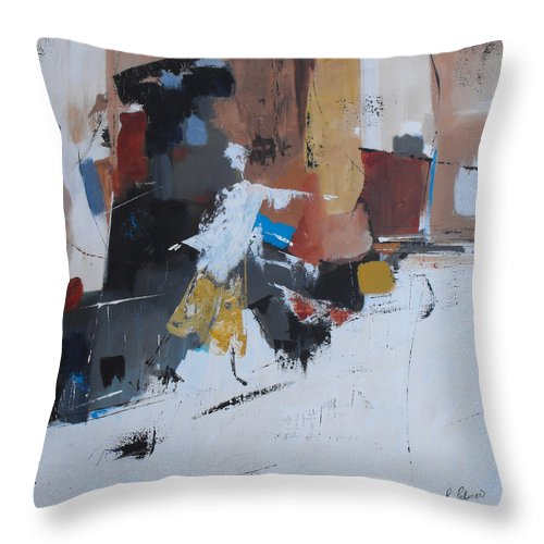 Abstract Throw Pillow featuring the painting Keep On Dancin' by Ruth Palmer