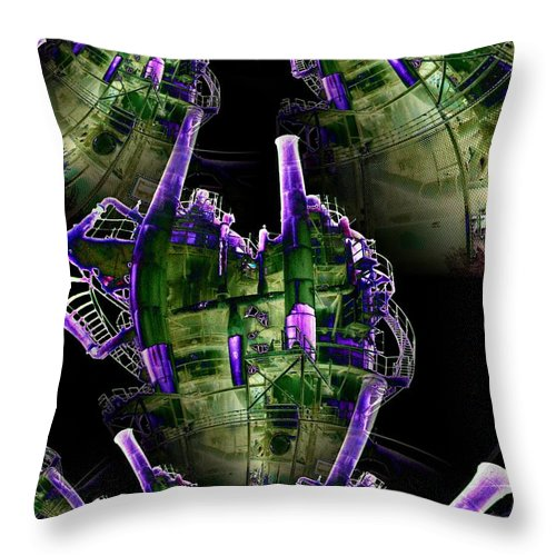 Seattle Throw Pillow featuring the digital art Keepers Of The Gasworks by Tim Allen