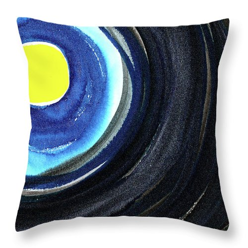 Moon Throw Pillow featuring the painting Keeping The Dark At Bay by Tonya Doughty