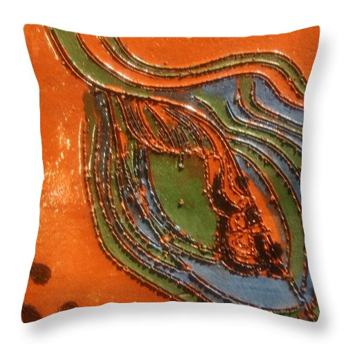 Jesus Throw Pillow featuring the ceramic art Kernel - Tile by Gloria Ssali