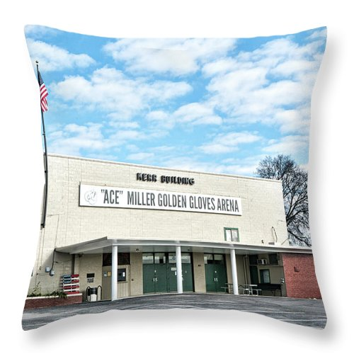 Knoxville Throw Pillow featuring the photograph Kerr Building by Sharon Popek
