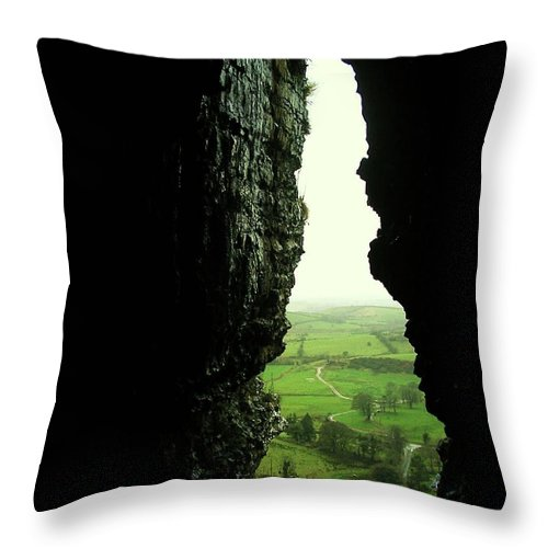 Landscape Throw Pillow featuring the photograph Kesh Caves Co Sligo Ireland by Louise Macarthur Art and Photography