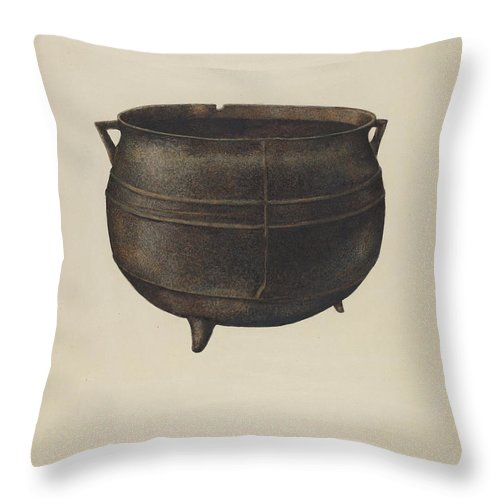 Throw Pillow featuring the drawing Kettle by Edward Albritton