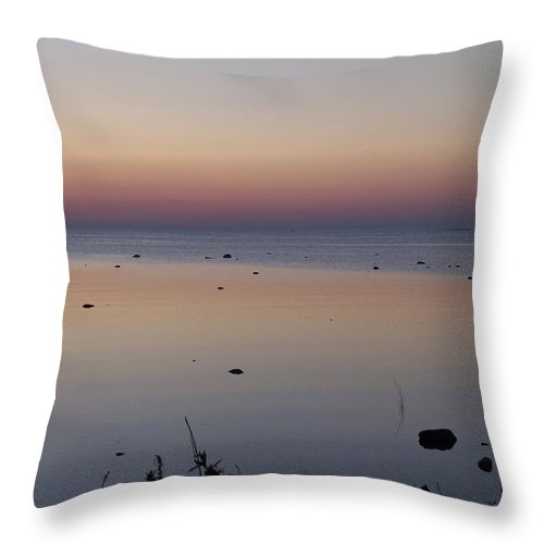 Canada Throw Pillow featuring the photograph Kettle Point Sunset by Michelle Miron-Rebbe