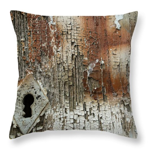 Keyhole Throw Pillow featuring the photograph Key Hole by Pedro Alexandre Soares da Conceicao
