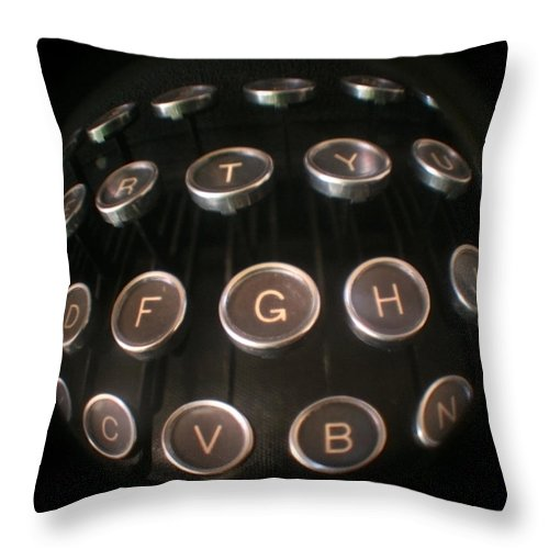 Typewriter Throw Pillow featuring the photograph Key To Communication by Jeffery Ball