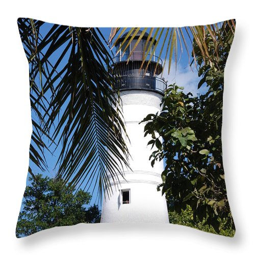 Lighthouse Throw Pillow featuring the photograph Key West Lighthouse by Susanne Van Hulst