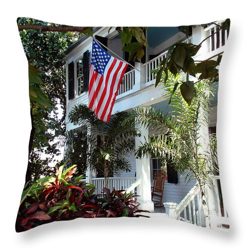 Key West Throw Pillow featuring the photograph Key West by Mark Grayden