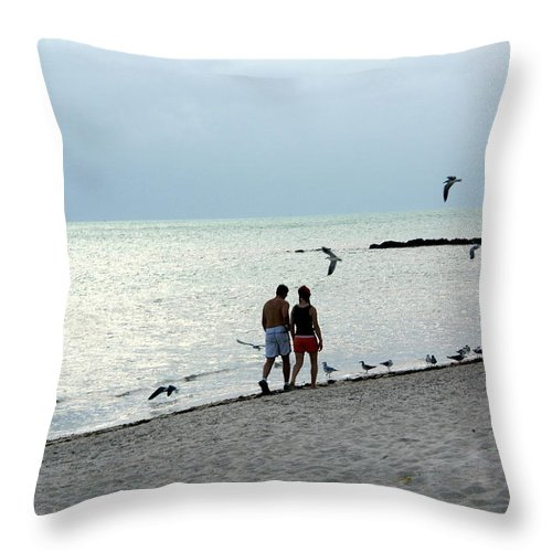 Kew West Throw Pillow featuring the photograph Key West by Marty Koch