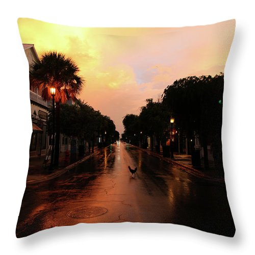 Key West Throw Pillow featuring the photograph key West Sunrise by Artie Rawls