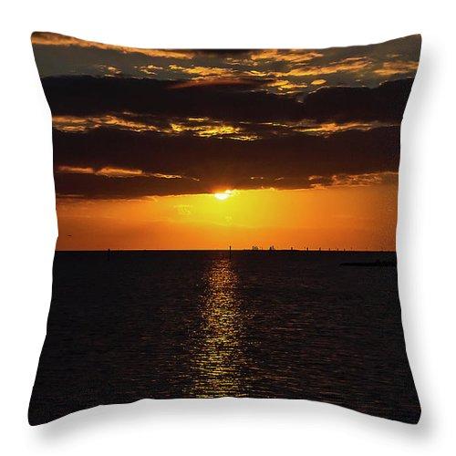 Sunset Throw Pillow featuring the photograph Key West Sunset 29 by Bob Slitzan