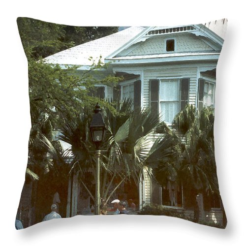 Historic Throw Pillow featuring the photograph Keywest by Steve Karol