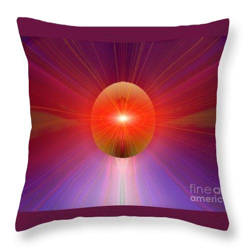 Ki Throw Pillow featuring the digital art Ki Series. 205 V by Oscar Basurto Carbonell