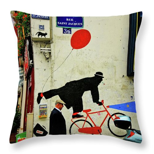 Paris Throw Pillow featuring the photograph Kick In The Head by Skip Hunt