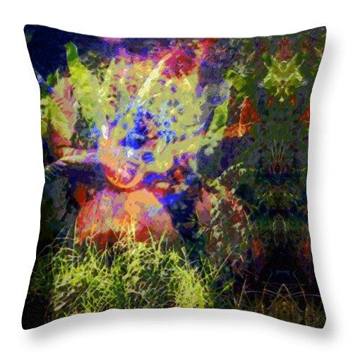Rainbow Colors Digital Throw Pillow featuring the photograph Kihapai O Ekena by Kenneth Grzesik