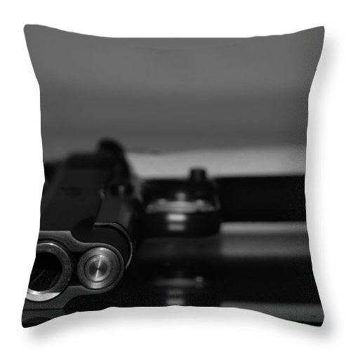 45 Auto Throw Pillow featuring the photograph Kimber 45 by Rob Hans