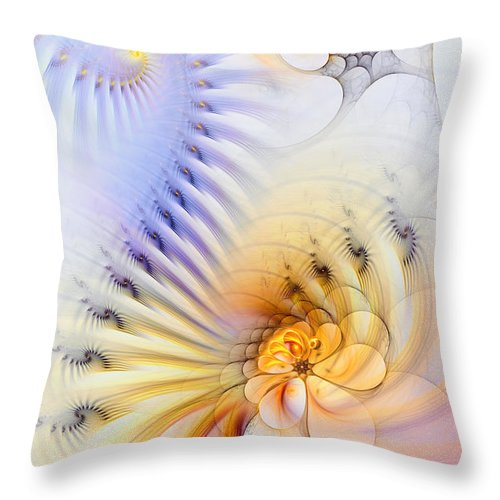 Abstract Throw Pillow featuring the digital art Kinetic Pantomime by Casey Kotas