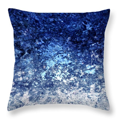 Walter's Falls Throw Pillow featuring the digital art Kinetic - Vertical by Richard Andrews