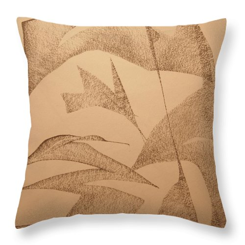 Abstract Throw Pillow featuring the drawing King by David Barnicoat