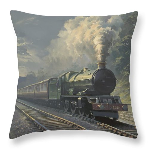 Steam Throw Pillow featuring the painting King Edward Vi by Richard Picton