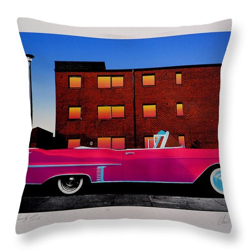 Throw Pillow featuring the photograph King Elvis Has Surely Come by Charles Stuart