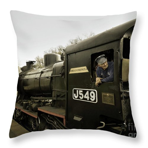 Belching Fire Throw Pillow featuring the photograph King Of The Road by Teresa A and Preston S Cole Photography