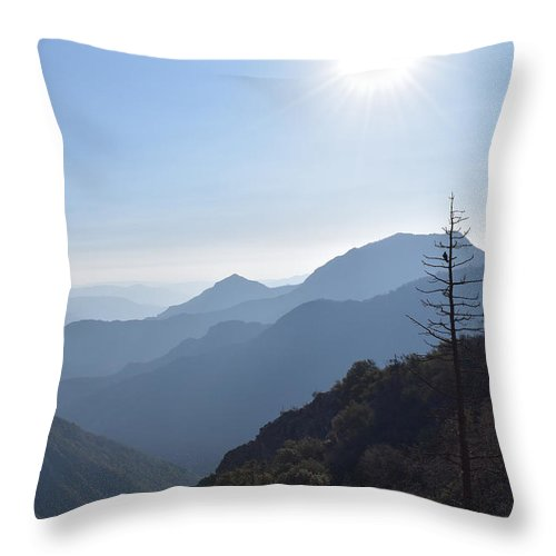 Alpine Throw Pillow featuring the photograph Kings Canyon Smokey Evening Vista by Will Sylwester