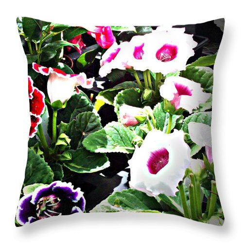 Flowers Throw Pillow featuring the digital art Kingwood Center 3 by Crystal Webb