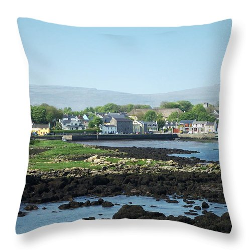 Irish Throw Pillow featuring the photograph Kinvara Seaside Village Galway Ireland by Teresa Mucha